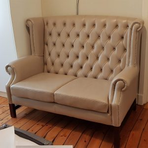 born furniture queen anne chesterfield love seat