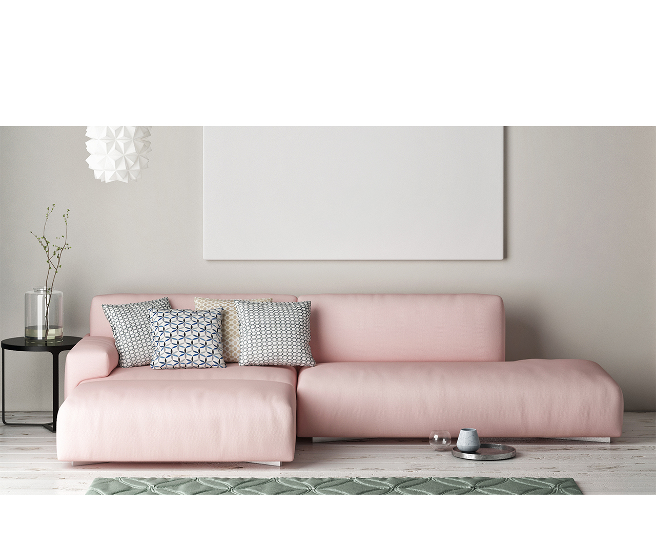 Born Furniture Pastel Pink sofa - B O R N