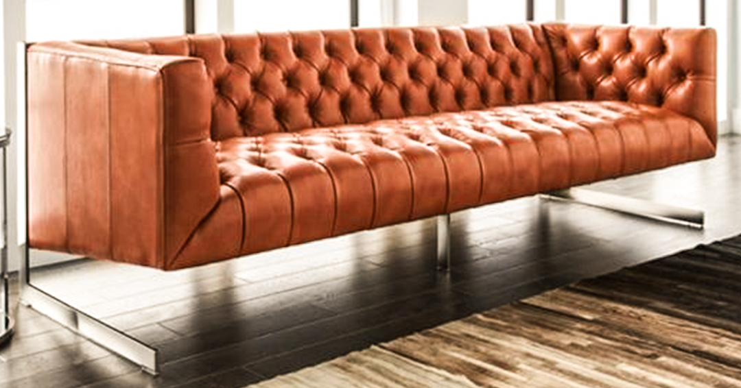 Aurelius Chesterfield 3 seater in leather