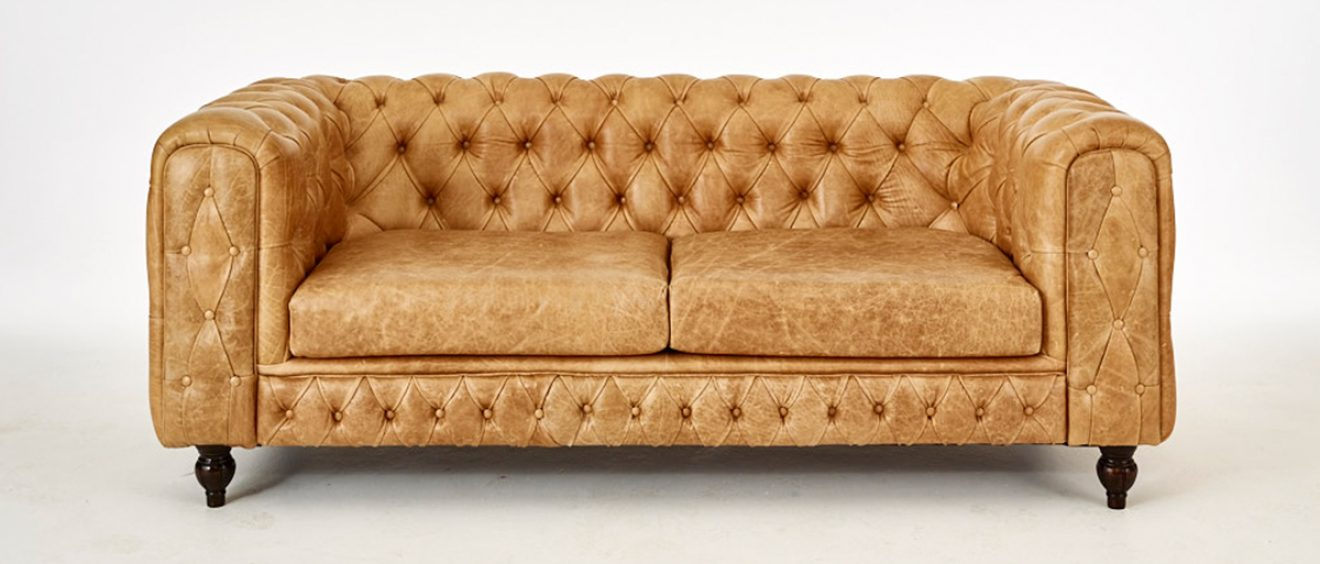 Born Furniture Teresa Chesterfield leather chesterfield sofa contemporary chesterfield