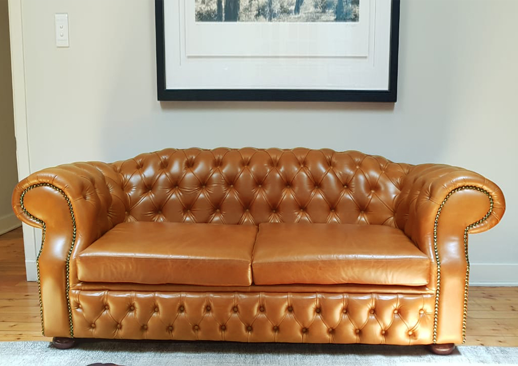 Schumann Chesterfield 3 Seater In Leather B O R N