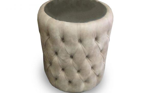Round Tufted Pedestal