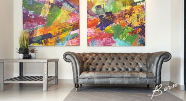 Born Furniture Chesterfield Sofa in Leather